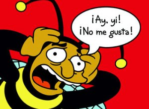 24808BP~The-Simpsons-Bumble-Bee-Man-Ay-yi-No-me-gusta-Posters