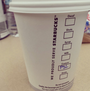 Tried my first PSL today, and it was only okay. Nothing spectacular. =(