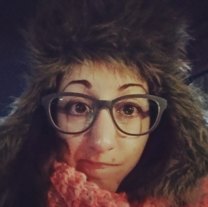 This is my ugly hat. It is very ugly. But it's also very warm!